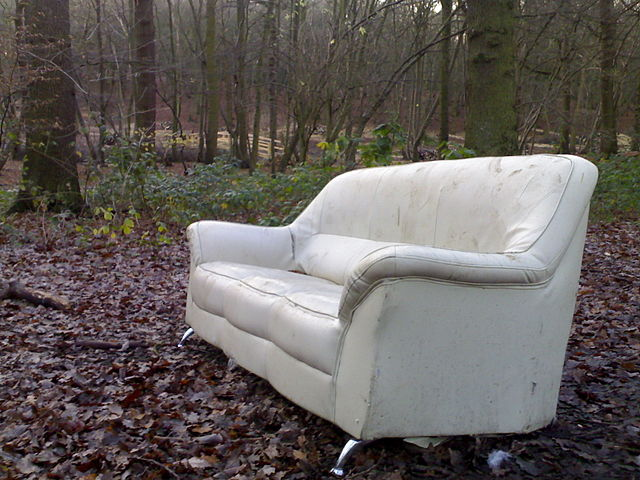 photo of a junk couch